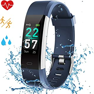 Fitness Tracker for women,2020 Color Screen Call & SMS,Smart Watch for Kids,with Heart Rate Monitor GPS,Step Calorie Counter,Sleep Monitor,IP68 Waterproof,Activity Tracker Pedometer Watch for Men