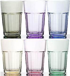 Rainbow Illusion Tinted Glass Tumbler 6-Piece Set, 11.75 Ounce - Pastel Edition