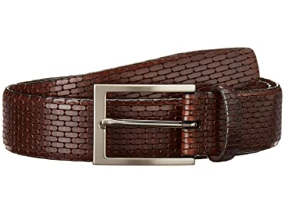 Torino Leather Co. 35 mm Italian Lasered Geo Calf (Brown) Men