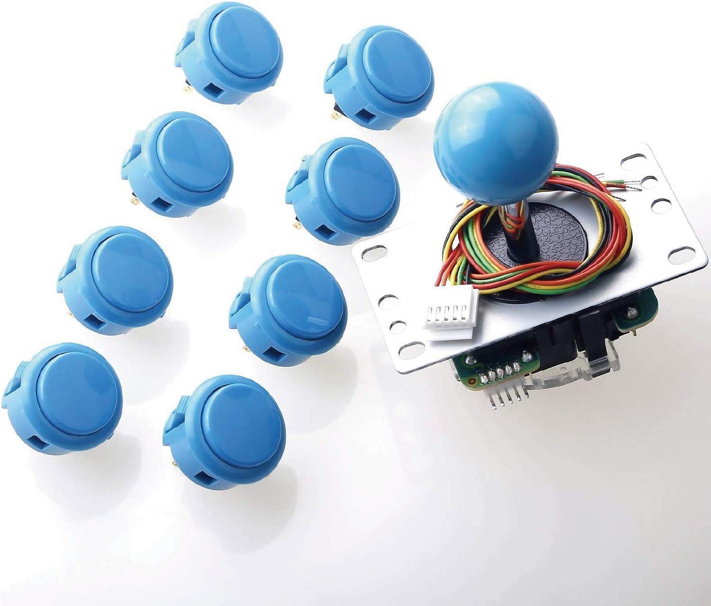 Sanwa JLF-TP-8YT Joystick + 8 pcs OBSF-30 All items unisex in the store Bund Push Button