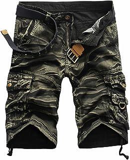 comprar comparacion LANMWORN Hombres Pantalones Cortos De Camuflaje Militares Ocasionales Multi-Bolsillos pantalón, AlgodóN De Verano Sueltos ...