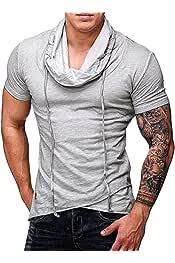 Zantt Mens Hooded Vest Fashion Pockets Pullover Tank Top Cami Blouse Shirt