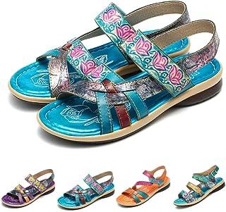 047c3d857618c0 Gracosy Sandales Cuir Femmes, Chaussures de Ville Été Compensées à Talons  Compensés Plateforme Plates avec