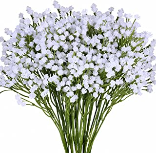 Supla Pack 2 Baby's Breath Artificial 14 Forks,Total of 882 White Blooms Babys Breath Bulk Flower Bush Gypsophila Artifici...
