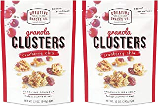 Creative Snacks Cranberry Chia Granola Clusters, Great for Snacking or Cereal, 2 pk, 12 Ounce Resealable Bags