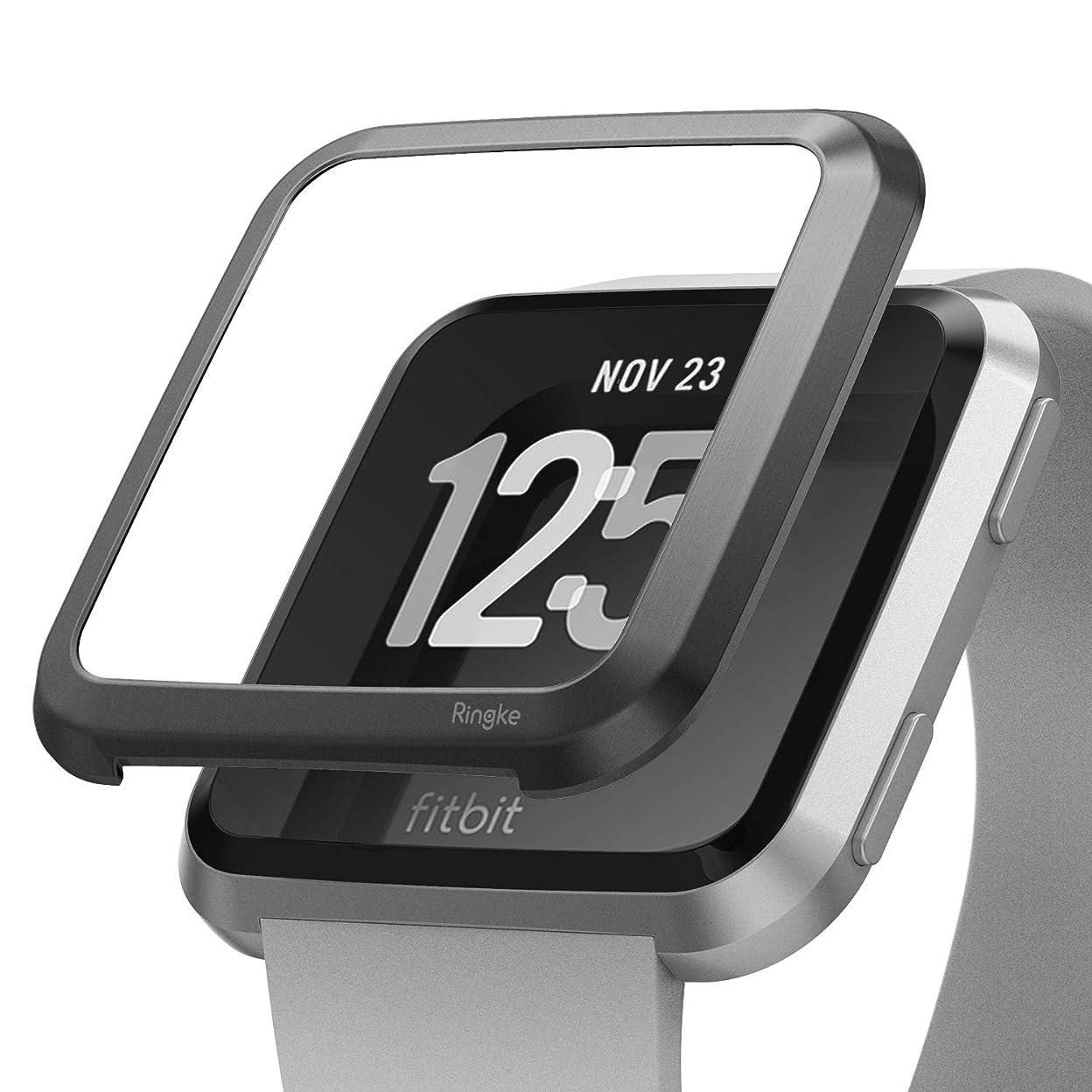 レディコークス気難しい【Ringke】 Fitbit Versa ケース コスパ最高 衝撃吸収 ウォッチ シリーズケース (2018) [Bezel Styling] Fitbit Versa Smartwatch (FW-V-06)