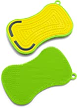 GreenLife Kitchen Gadgets Green and Yellow Silicone Sponges, Set of 2