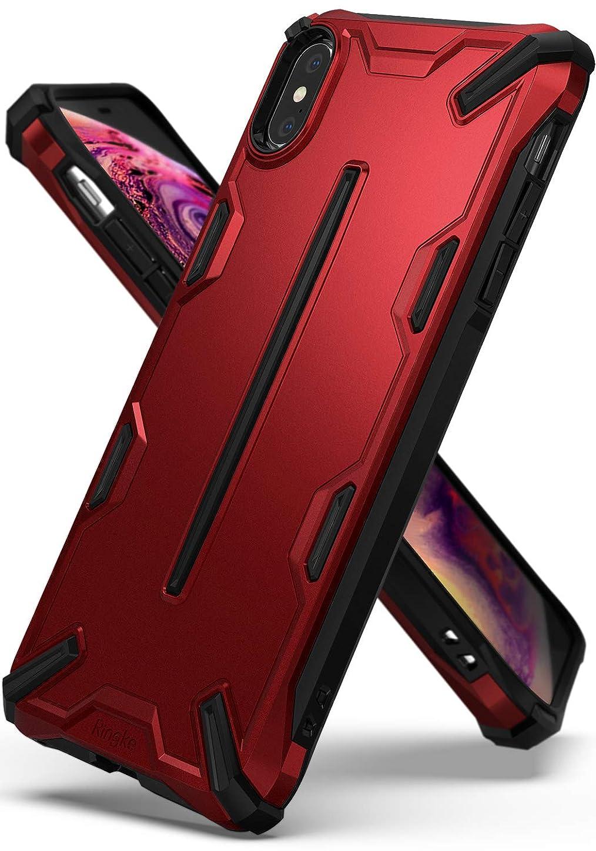 宣言する願望処方【Ringke】iPhone XS Max ケース 対応 コスパ最高 衝撃吸収 ストラップホール スマホケース [軍用規格落下試験済み] 耐衝撃 落下防止 スマホケース Qi ワイヤレス充電対応 Dual-X (Iron Red)