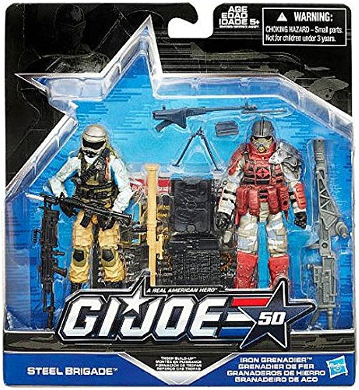 G.I. Joe Steel Brigade vs. Iron Grenadier  Troop Build Up  50th Anniversary 2015  Actionfiguren Set von Hasbro