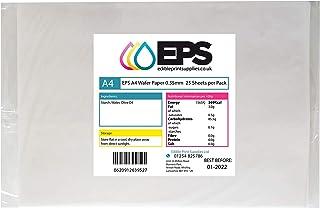comprar comparacion 25 láminas comestibles de papel EPS A4, blanco