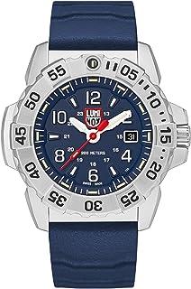 Luminox Mens Watch Navy Seal Steel 3253: 45mm Navy Blue Display Silver Stainless Steel 200 M Water Resistant
