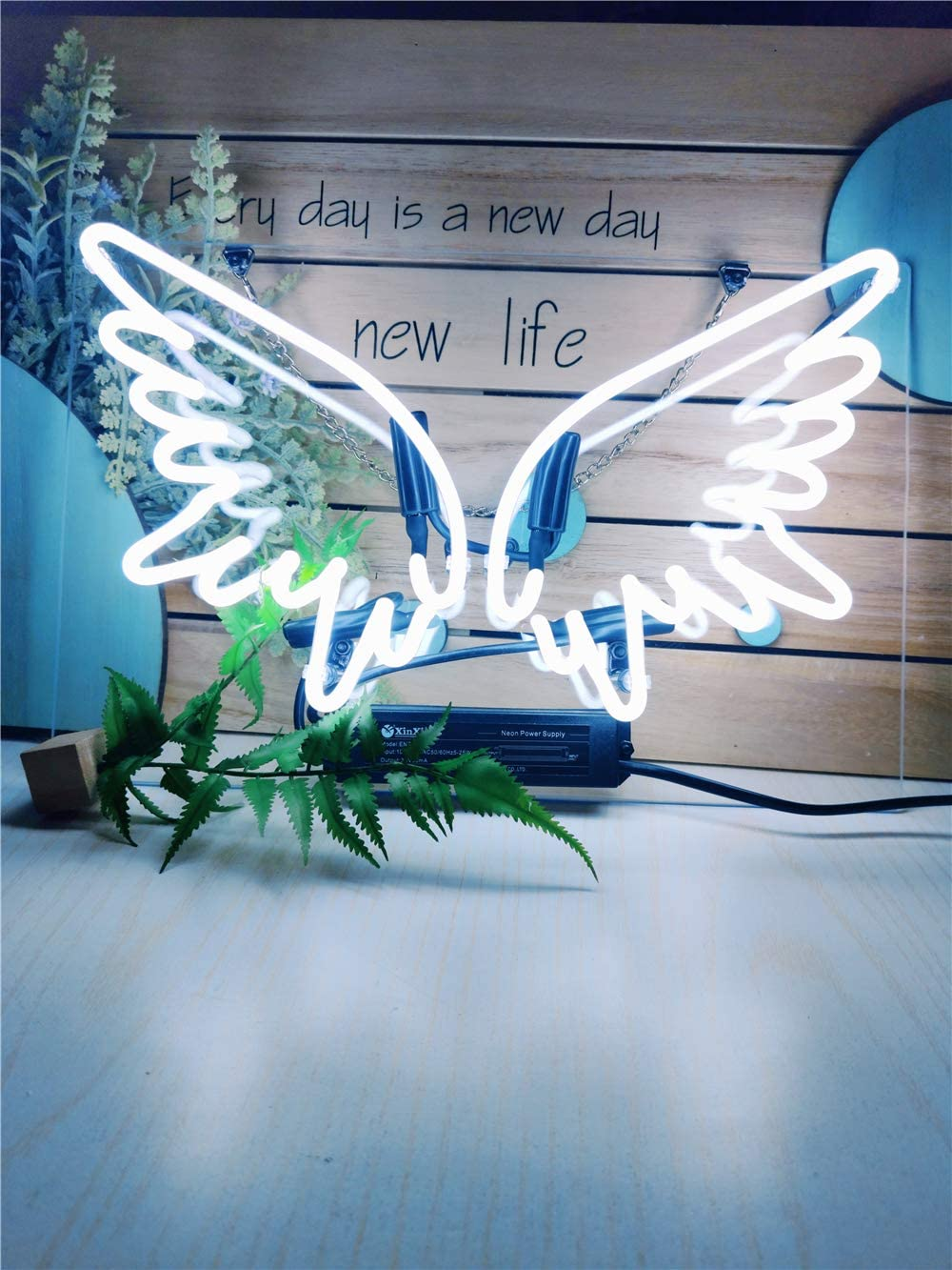 Super sale Neon Signs Angel Wing Light Up W Manufacturer direct delivery Sign