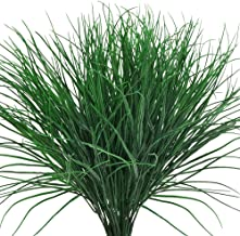 KLEMOO Artificial Wheat Grass Fake Outdoor UV Resistant Plants Shrubs Bushes Leaves, Faux Plastic Greenery for Indoor Outside Hanging Planter Home Office Wedding Window Box Decor