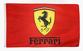 N CENTS Fan 3x5 Foot Polyester Flag for Ferrari Red Auto Car Banner with Brass Grommets