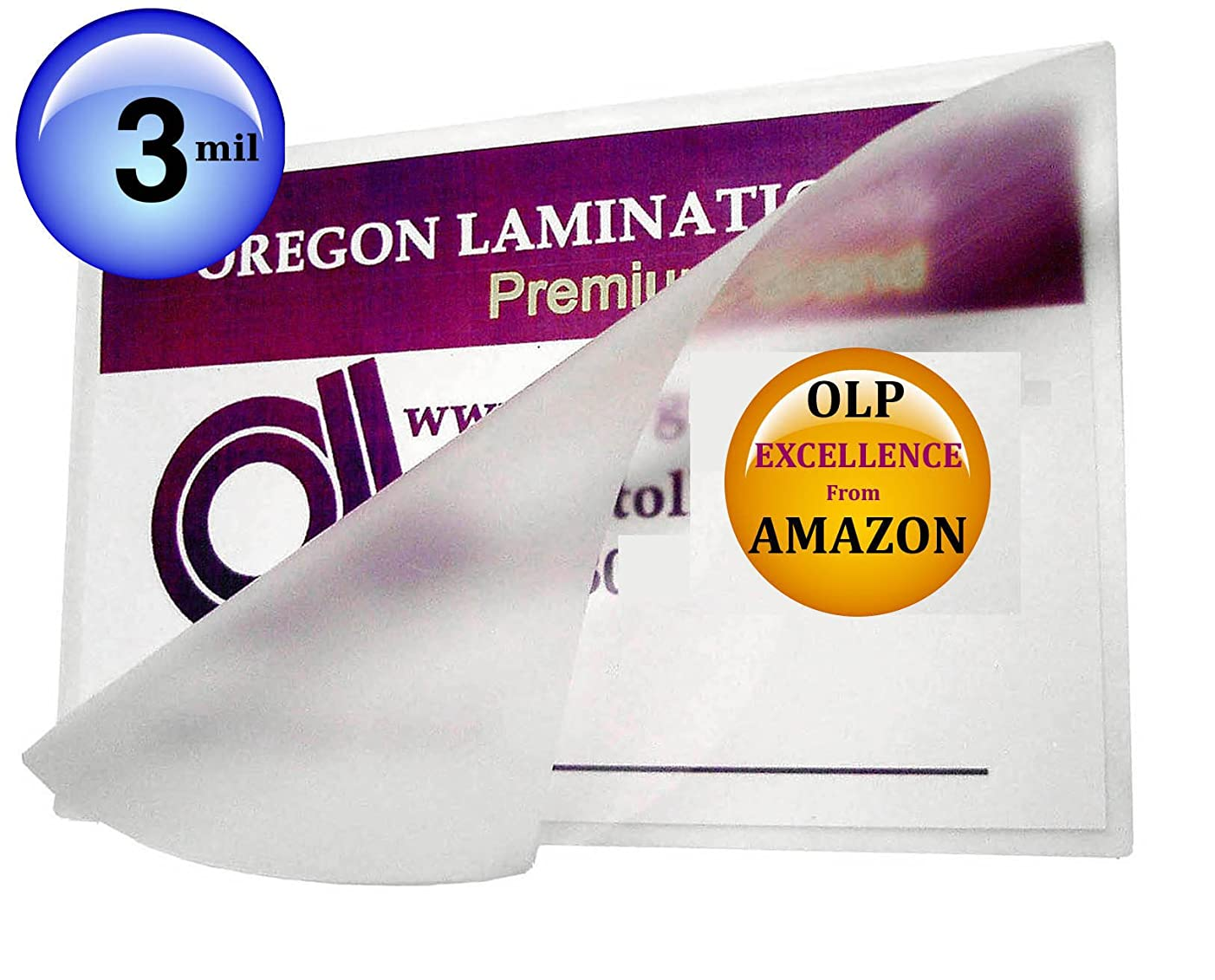 Qty 1000 Mini Letter Laminating Pouches 8-3/4 x 11-1/4 Hot Laminator Sleeves 3 Mil