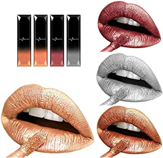 Asooll Matte Liquid Lipsticks Long Lasting Lip Gloss Waterproof Diamond Shimmer Metallic Lipcolor Cosmetics Makeup for Wom...