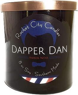 Rocket City Candles Dapper Dan Amber Noir Scented Candle
