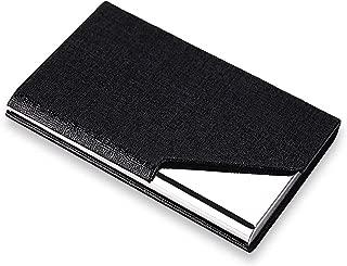 rts Card Holder, Steel Magnetic Case Credit/Debit/ATM/Visiting/Business Card Metal Wallet for Men & Women - Black