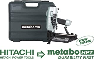 Metabo HPT NT65M2S Pneumatic Finish Nailer, 16 Gauge, 1-Inch up to 2-1/2-Inch Finish Nails, Integrated Air Duster, Selective Actuation Switch, 360-Degree Exhaust Portal, 5-Year Warranty