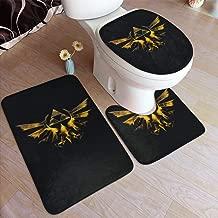 REECECAM The Legend of Zelda Wind Waker HD Bathroom Rug 3 Piece Bath Mat Set Contour Rug and Lid Cover