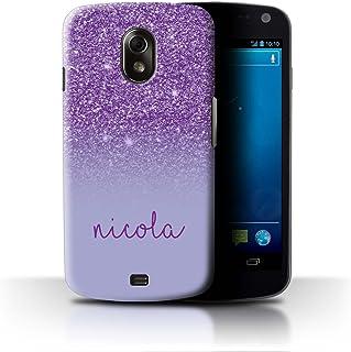 Personalizado Efecto Brillo Personalizar Funda para el Samsung Galaxy Nexus 3/I9250 / Púrpura Diseño/Inicial/Nombre/Texto Carcasa/Estuche/Case