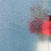 Mikomer 3D Crystal Mosaic Privacy Window Films, Decorative Glass Door Clings(Rainbow Effect with Sunlight),Static Cling Wi...