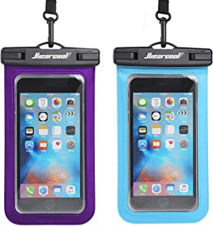 Hiearcool Universal Waterproof Case,Waterproof Phone Pouch - IPX8 Cellphone Dry Bag for iPhone XR/8/ 8plus/7/7plus/6s Samsung Galaxy s10/s9 Google Pixel 2 HTC LG Sony Moto up to 7.0