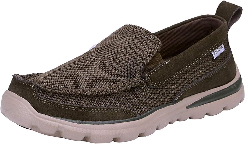 Oudan Men's Espadrilles Casual Canvas Loafers Lazy shoes Dad shoes Breathable (color   Green, Size   41EU)