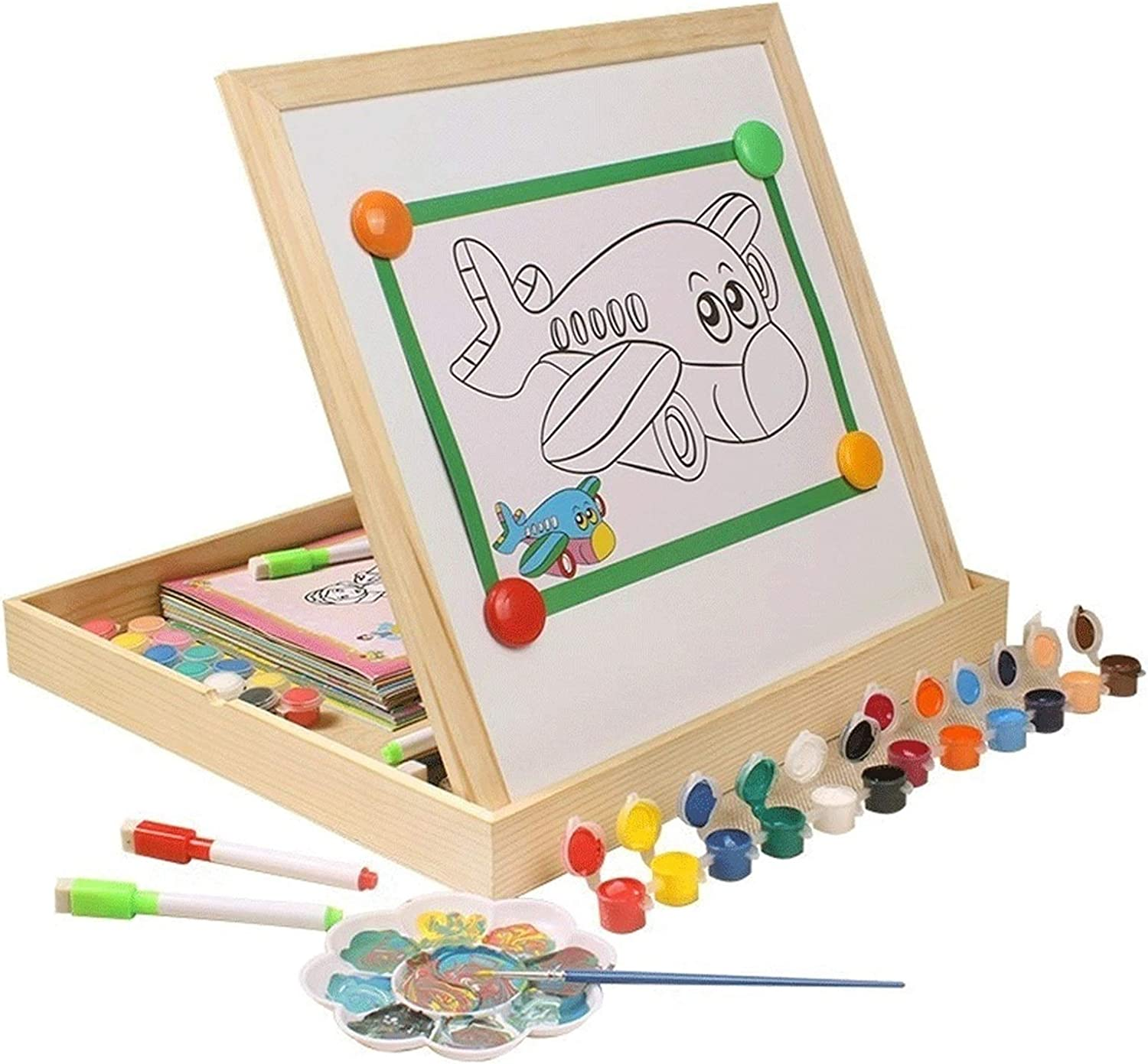 LICHUAN Super intense SALE Kid's Easel Wooden Educational Credence P Toys Art Magnetic