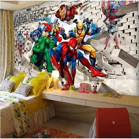 Spider Man Photo Papier Peint Personnalis/é 3d Papier Peint Marvel Films Peintures Murales Super H/éros Enfants Gar/çons Chambre D/écor Chambre Design Dint/érieur