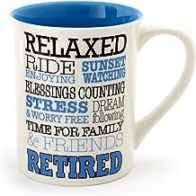 Enesco 4056381 Stoneware Mug, 16 oz, Retirement Typography