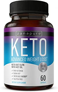 Keto Diet Elite - 1000mg Keto Advanced Weight Loss- Ketogenic Fat Burner- Burn Fat Instead of Carbs - Ketosis Supplement - Potassium and BHB Salts - 30 Day Supply
