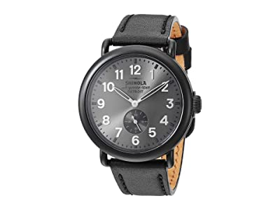 Shinola Detroit 41 mm Runwell Sub Second (Gunmetal/Black Leather Strap) Watches
