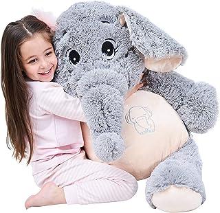 IKASA 100cm Giant Elephant Stuffed Animal Plush Toys Gifts for Kids Girlfriend