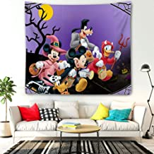 DISNEY COLLECTION Tapestry Halloween Mickey Mouse and Minnie Mouse Goofy Donald Duck Pluto Disney Halloween Wallpaper Tapestry for Living Room Bedroom Dorm Home Decor 60 Inch51 Inch