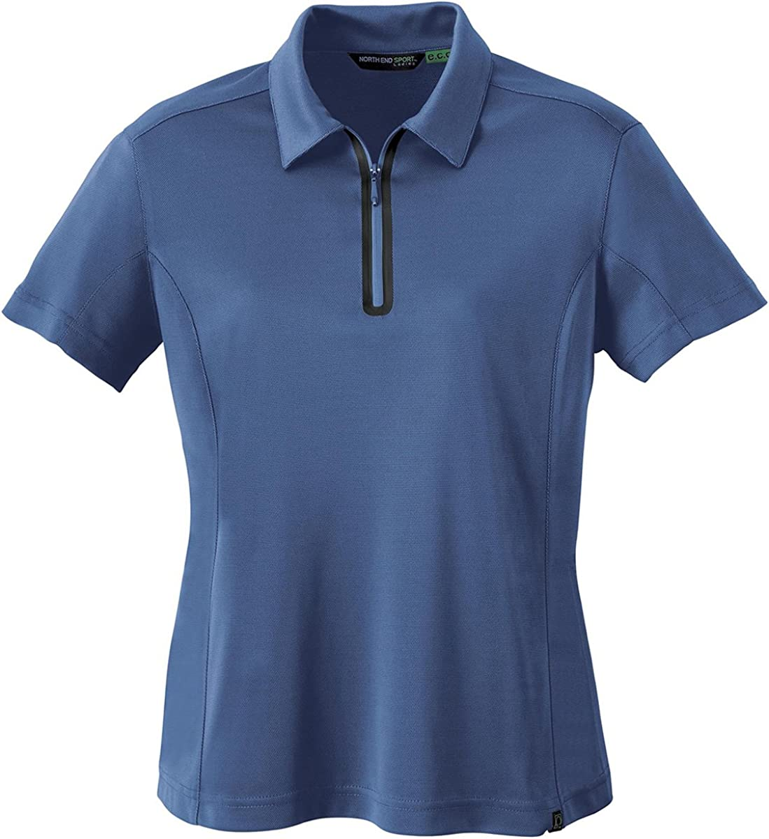 North End 78629 LADIES' RECYCLED POLYESTER/PERFORMANCE POLYESTER ZIPPED POLO - DUTCH BLUE 641 - XS