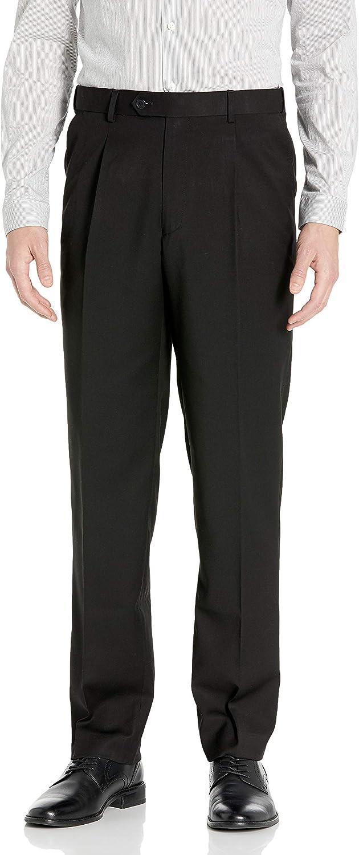 Adolfo Men's Single Pleat Micro Tech Suit Pant