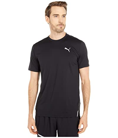 PUMA Run Laser Cat Short Sleeve Tee (PUMA Black) Men