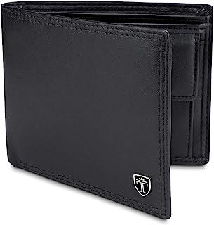 TRAVANDO ® Portafoglio Uomo Grande OSLO con protezione RFID Porta Carte di Credito nero con Portamonete Borsellino Portafo...