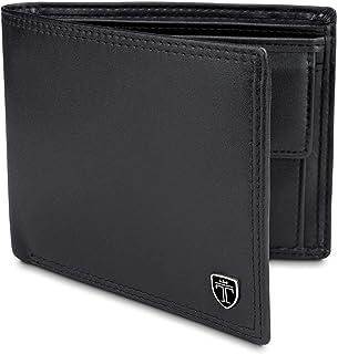 """TRAVANDO ® Portefeuille Homme """"Oslo"""" avec Blocage RFID - Porte Monnaie Noir Classique, Porte-Cartes Format Portrait - Rang..."""