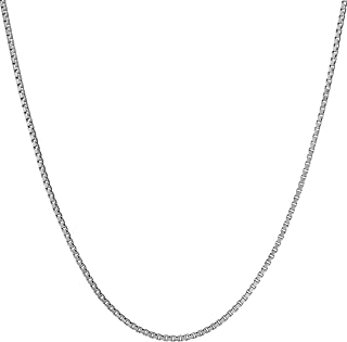 Lifetime Jewelry 1.4mm Box Chain Necklace for Women & Men 24k White Gold Plated