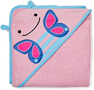 Skip Hop Baby Hooded Towel, 100% Cotton French Terry, Butterfly