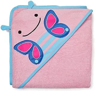 Skip Hop - Toalla con capucha para bebé, 100% algodón de rizo francés, diseño de mariposa