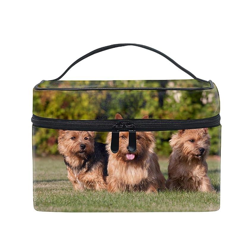 可愛いユニークポーチ 小物入れケアンテリア犬 軽量 防水 旅行も便利 撥水する防水ポーチ