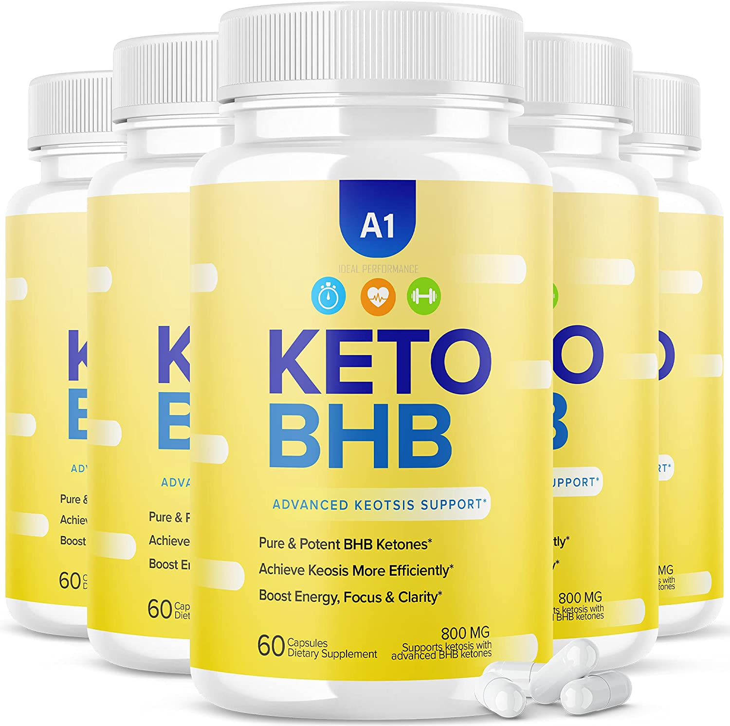 5 Pack OFFicial shop A1 Keto BHB Ketogenic Advanced Oklahoma City Mall Capsules Ketosis Support