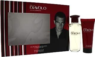 Antonio Banderas Diavolo for Men 2 Piece Gift Set with Eau de Toilette Spray & After Shave Balm