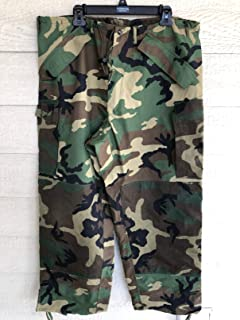 Usmc Issue Ecwcs Gen II Gore Tex Woodland Camouflage Cold Weather Pants - Large Regular.
