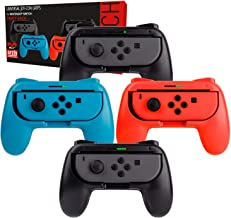Orzly Grips for Nintendo Switch Joycon Controller Grips for Super Smash Brothers and Other Games. Party [4 Pack] Joy-Cons ...