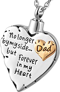 Meice Memorial Necklace pet,no Longer My Side Forever in My Heart Cremation Pendant Jewelry