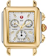 Michele - Deco Two-Tone, Diamond Dial Silver/Gold Watch Head